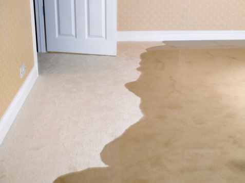 Water damage causes odor