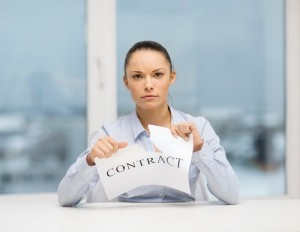 avoid contracts with professional cleaners